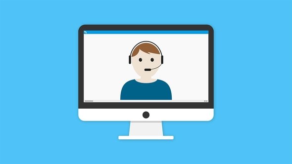 Bildschirm mit Icon Moderator