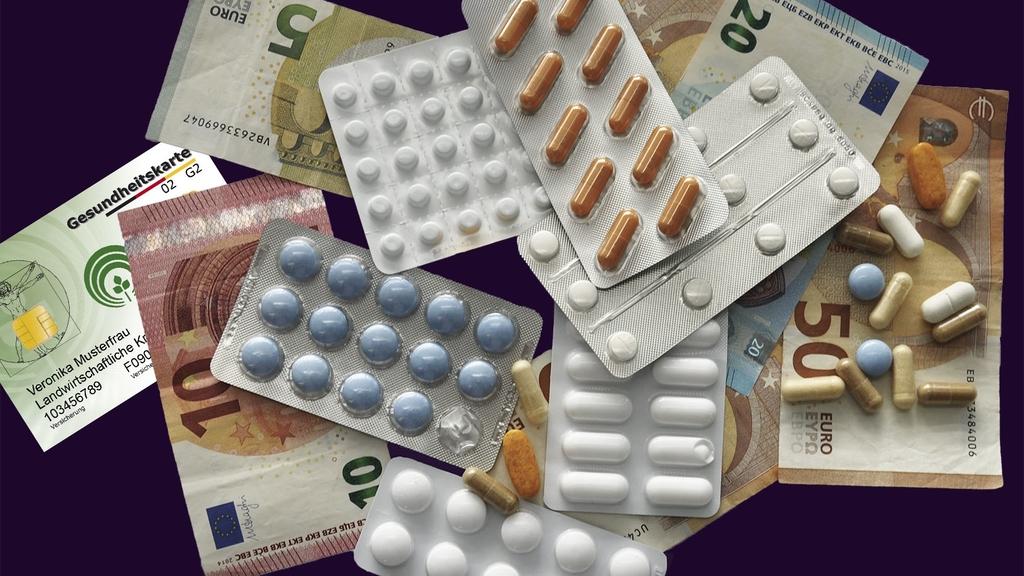 Geld und Tabletten