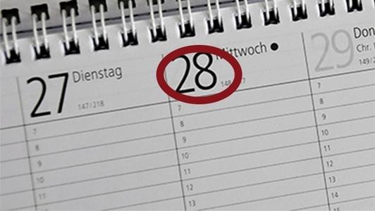 Kalender mit Termin