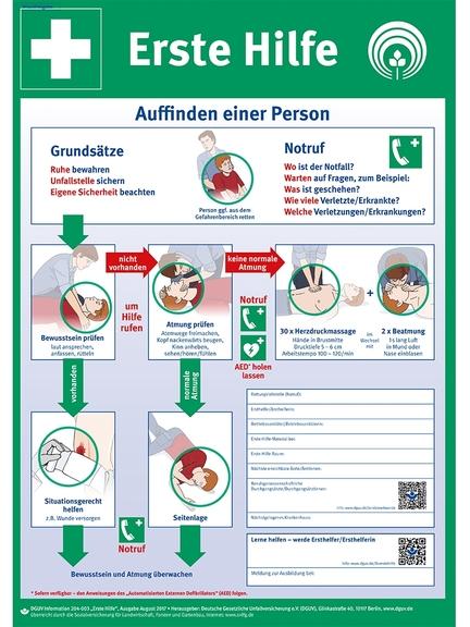 Bild: Plakat zur Ersten Hilfe